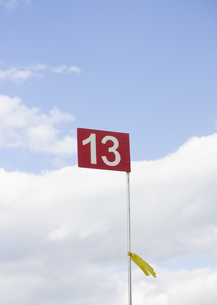 パークゴルフの旗の写真素材 [FYI03043360]