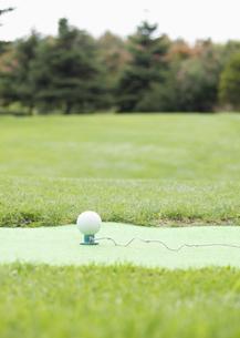 パークゴルフのティーグラウンドの写真素材 [FYI03043364]