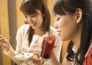 飲み会をする女性たちの写真素材 [FYI03045699]