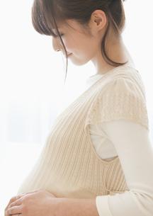 お腹を触る妊婦の写真素材 [FYI03048247]