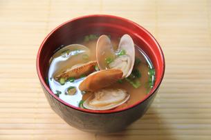アサリの味噌汁の写真素材 [FYI03050899]