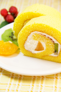 ロールケーキの写真素材 [FYI03051478]