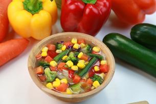 野菜スープの写真素材 [FYI03051952]