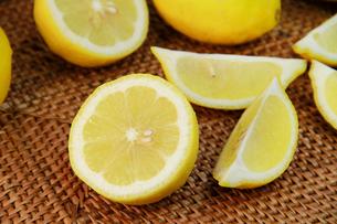 カットレモンの写真素材 [FYI03053237]
