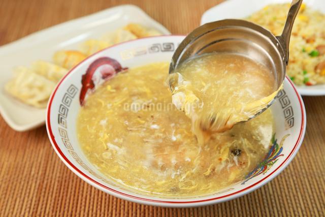 中華卵スープの写真素材 [FYI03053254]