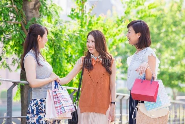 ショッピングバッグを持つ女性の写真素材 [FYI03054046]
