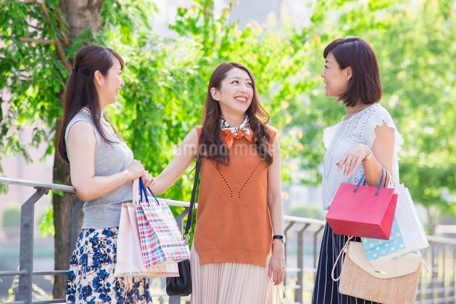 ショッピングバッグを持つ女性の写真素材 [FYI03054048]