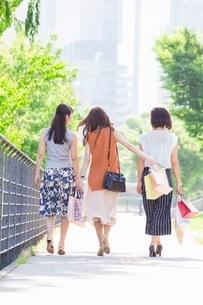 ショッピングバッグを持つ女性の写真素材 [FYI03054058]