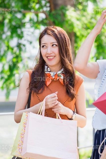 ショッピングバッグを持つ女性の写真素材 [FYI03054063]