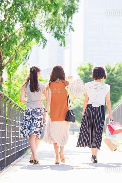 ショッピングバッグを持つ女性の写真素材 [FYI03054068]