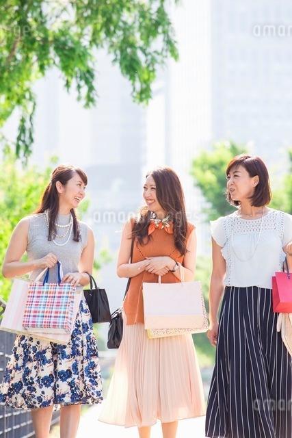 ショッピングバッグを持つ女性の写真素材 [FYI03054077]