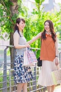 ショッピングバッグを持つ女性の写真素材 [FYI03054078]