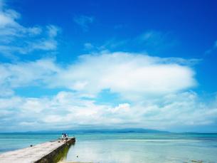竹富島の西桟橋の写真素材 [FYI03054943]
