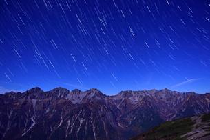 蝶ヶ岳の夜の写真素材 [FYI03055191]