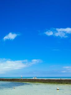 竹富島の西桟橋の写真素材 [FYI03055361]