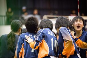 高校生バレーボール女子の写真素材 [FYI03055638]