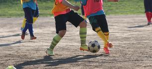 サッカー部の練習の写真素材 [FYI03055926]