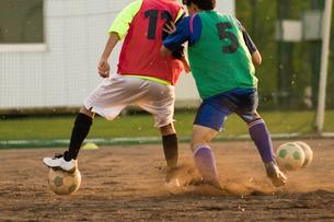 サッカー部の練習の写真素材 [FYI03056095]