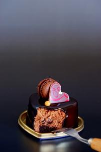 マカロンとチョコレートケーキの写真素材 [FYI03056320]