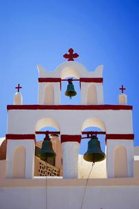 サントリーニ島 イアの教会の写真素材 [FYI03056598]