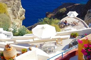 サントリーニ島の眺めの写真素材 [FYI03056609]
