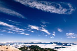 剣ヶ峰より北アルプスを望むの写真素材 [FYI03056618]