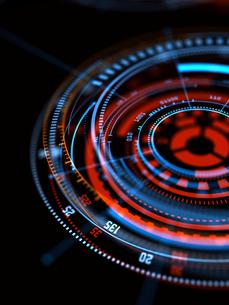 円形モニターの写真素材 [FYI03057386]