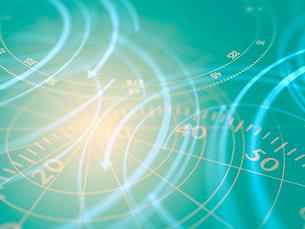 重なる円形モニターの写真素材 [FYI03057647]