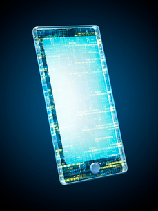 回路デザインのスマートフォンの写真素材 [FYI03057682]