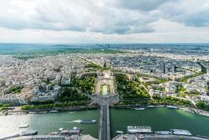 View from Eiffel Tower, Jardins du Trocadero, Place duの写真素材 [FYI03059745]