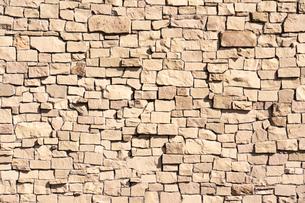 石積みの壁の写真素材 [FYI03059801]