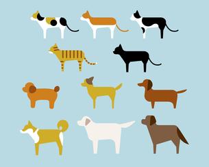 犬と猫の種類のイラスト素材 [FYI03060171]