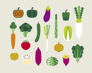 いろいろな野菜のイラスト素材 [FYI03060173]