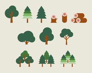 いろいろな木のイラスト素材 [FYI03060175]