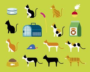 猫とペット用品のイラスト素材 [FYI03060179]