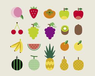 いろいろな果物のイラスト素材 [FYI03060187]