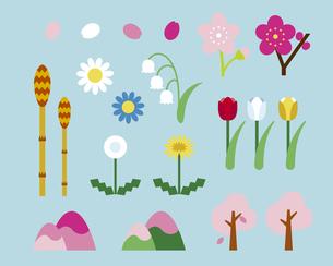 春の自然のイラスト素材 [FYI03060191]