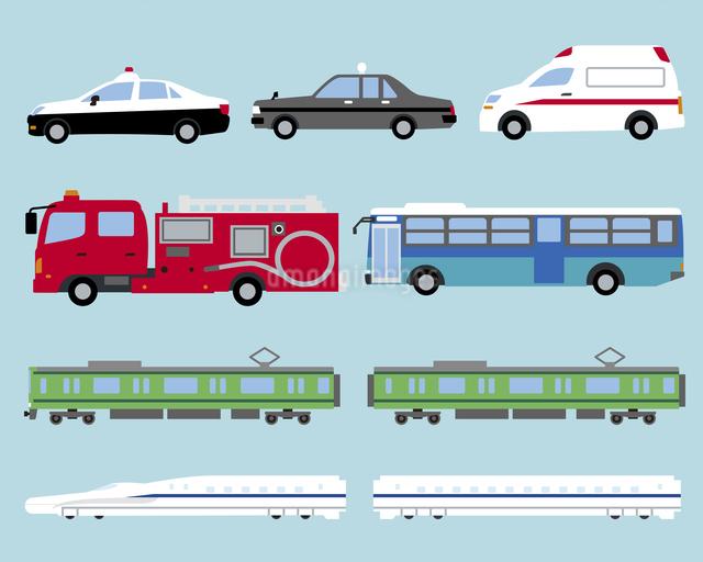 いろいろな公共の乗り物のイラスト素材 [FYI03060201]