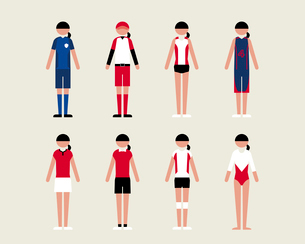 女性(スポーツ)のイラスト素材 [FYI03060228]