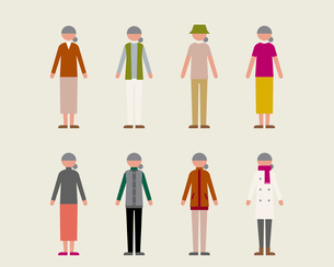 シニア女性(季節の服装)のイラスト素材 [FYI03060233]