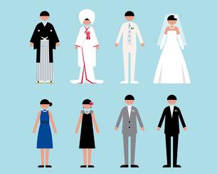 人物(結婚式1)のイラスト素材 [FYI03060246]