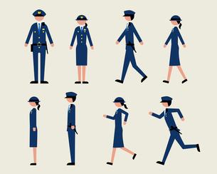 警官(歩く・走る・横)のイラスト素材 [FYI03060298]