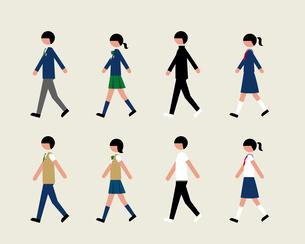学生(歩く)のイラスト素材 [FYI03060350]