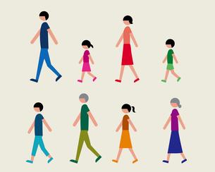 半袖の人物(歩く)のイラスト素材 [FYI03060360]