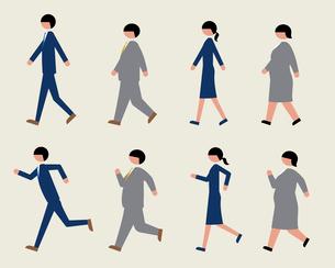 ビジネスマン(歩く・走る)のイラスト素材 [FYI03060387]