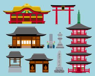 神社・寺の建物のイラスト素材 [FYI03060418]