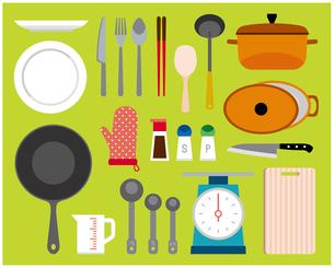 料理道具セットのイラスト素材 [FYI03060421]
