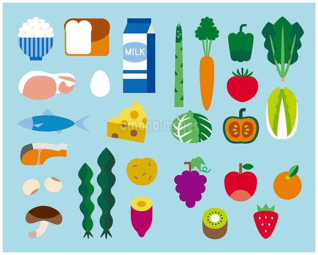 食の栄養素セットのイラスト素材 [FYI03060424]