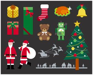クリスマスセットのイラスト素材 [FYI03060443]