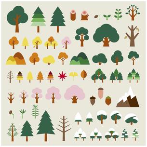 自然の四季セットのイラスト素材 [FYI03060467]